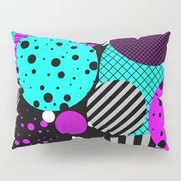 Circles, Bubbles And Stripes Pillow Sham