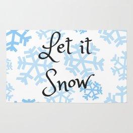 Let it Snow Snowflakes Rug