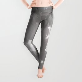 CHERRY BLOSSOMS IN BLACK AND WHITE Leggings