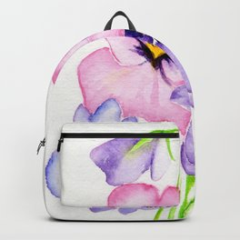 Pretty Pansies Backpack
