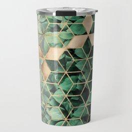 Leaves And Cubes Travel Mug