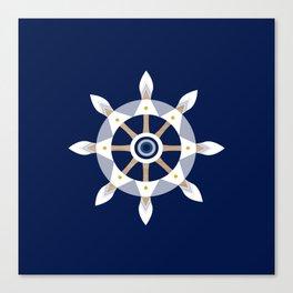 Nautical Rudder Canvas Print
