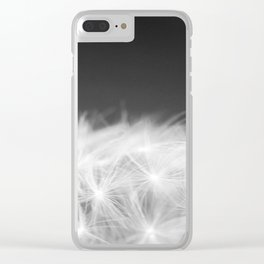 Dandelion Blowball Closeup Black and White #decor #society6 #buyart Clear iPhone Case