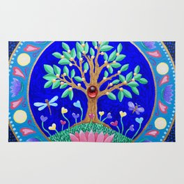 Tree of Love July Mandala Rug
