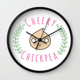 Cheeky Chickpea Wall Clock
