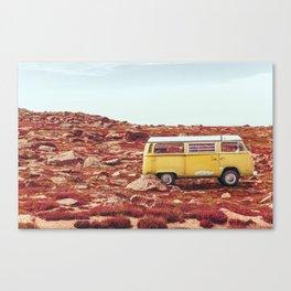 yellow Camper Canvas Print