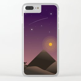 Desert at Dusk Poster Clear iPhone Case