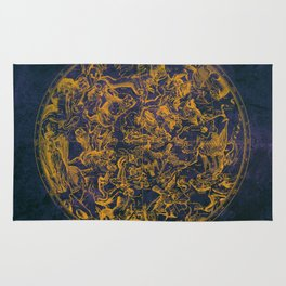 Vintage Constellations & Astrological Signs | Purple Galaxy Rug
