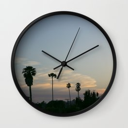 Venice Sunset (with Palm Trees) Wall Clock