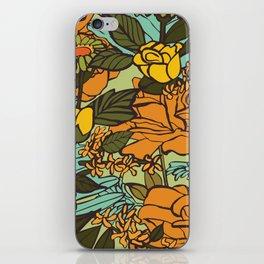 retro garden iPhone Skin