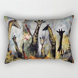 Collage with giraffes Rectangular Pillow