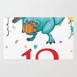 12th Birthday For Boys Dinosaur Birthday Rug