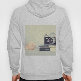 Film Camera and Pink Telephone (Retro and Vintage Still Life Photography) Hoody