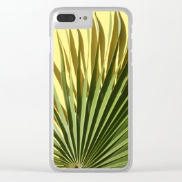 Palm on Yellow Clear iPhone Case