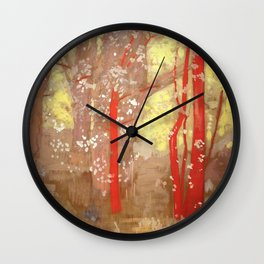 "Odilon Redon ""The Red Trees"" Wall Clock"