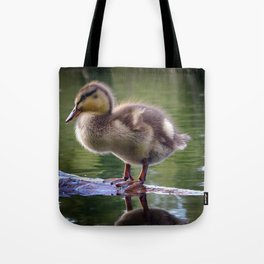 Duckling in Chocolate Caramel Tote Bag