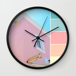 Bright And Happy On The Side Pastels Wall Clock