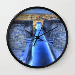 Edinburgh Castle Cannon Wall Clock