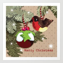 The Christmas Pudding Collection  Art Print