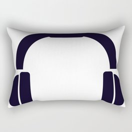 headphones Rectangular Pillow