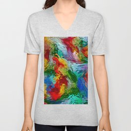 Magic Carpet Ride Abstract Unisex V-Neck