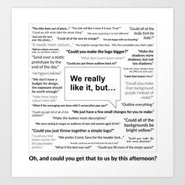 Sh*t Clients Say Art Print