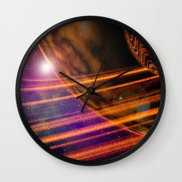 Space Scene Two Wall Clock
