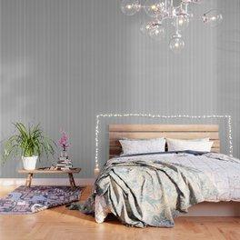 Black Pinstripe On White Pattern Wallpaper