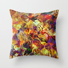 V15 Lovely Traditional Moroccan Pattern Colored Design Waves. Throw Pillow