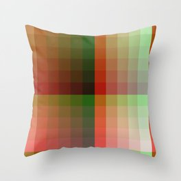 Color harmony ...red , green Throw Pillow