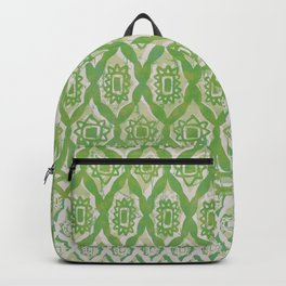 painterly diamonds in washed out lime Backpack