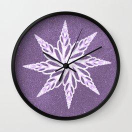 Lavender Seashell Stars Wall Clock