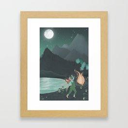 Dances with Leaves Framed Art Print