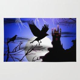 Raven's Haunted Castle Rug