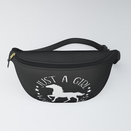 Just A Girl Who Loves Horses print Gift for Horse Riders Fanny Pack