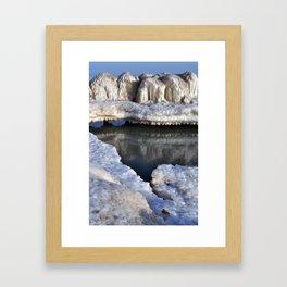 A Winter fortress  Framed Art Print