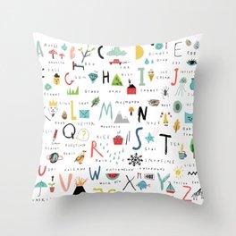 ABC Throw Pillow
