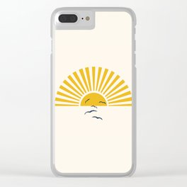 Minimalistic Summer I Clear iPhone Case