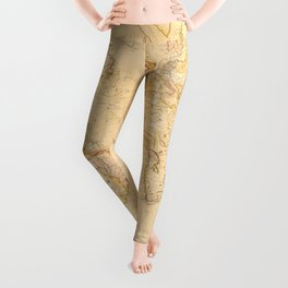 Vintage Map of The World (1818) Leggings
