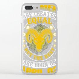 Best-Men-Are-Born-On-April-02---Aries-Shirt---Sao-chép---Sao-chép Clear iPhone Case