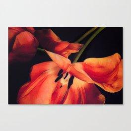 Orange Sentinels Canvas Print
