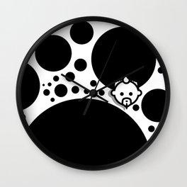 Bubble Black by JC LOGAN for SB Wall Clock