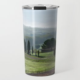 Panoramic view of Val d'Orcia, Tuscany, Italy Travel Mug