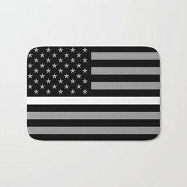 EMS: Black Flag & Thin White Line Bath Mat