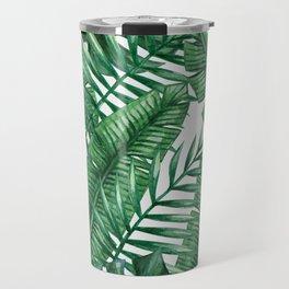 Palm Leaf Tropical Pattern Travel Mug