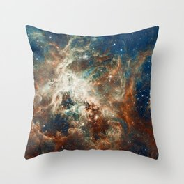 Space Nebula, Star and Space, A View of Galaxy and Outerspace Throw Pillow
