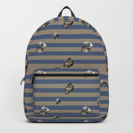 Vintage navy shells Backpack