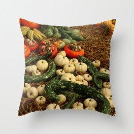 Autumn Time Harvest Time Throw Pillow