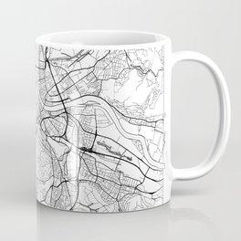 Basel Map White Coffee Mug