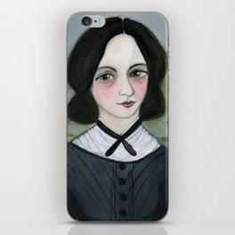 Emily Bronte and her Wuthering Heights iPhone Skin